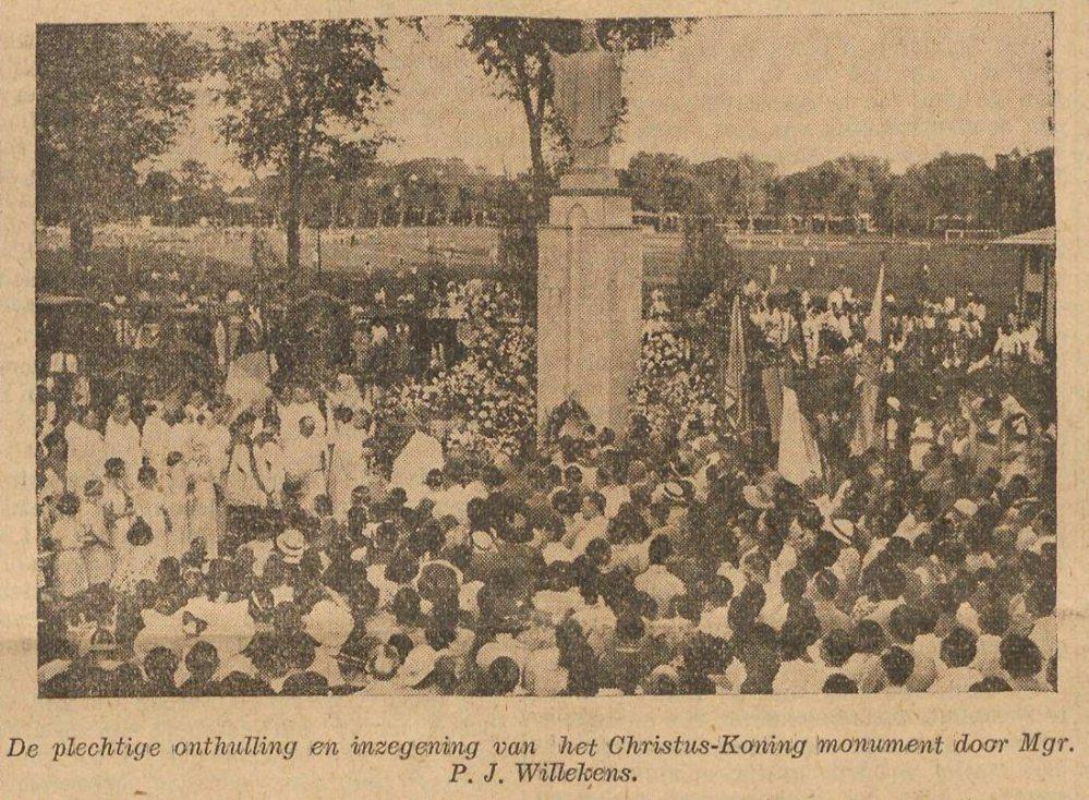 Onthulling van het monument, 1935.