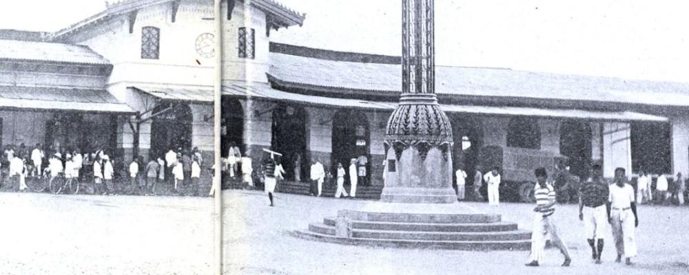 De lamp voor het station