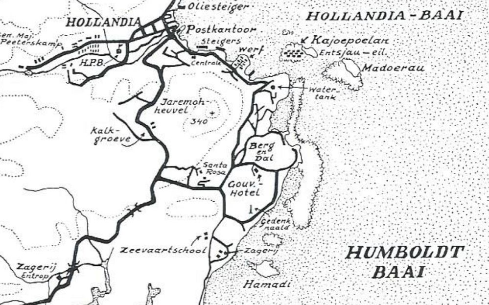Hollandia_kaart