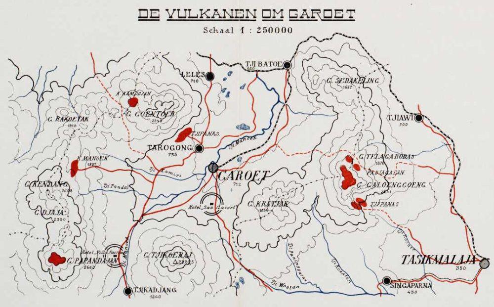 Toeristenkaart Garoet en omgeving