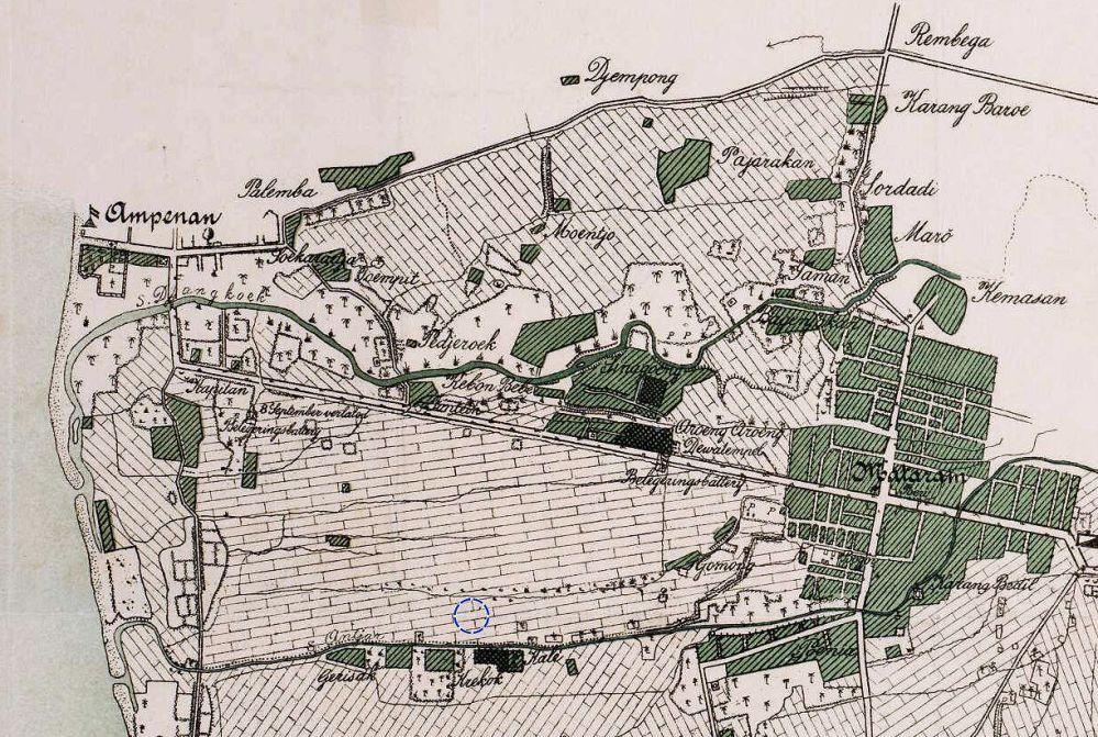 Mataram: kaart van het strijdtoneel, 1895